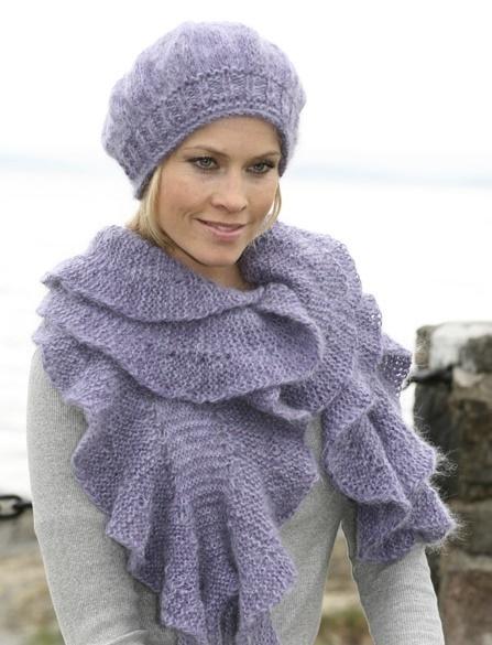 Violet Scarf & Hat