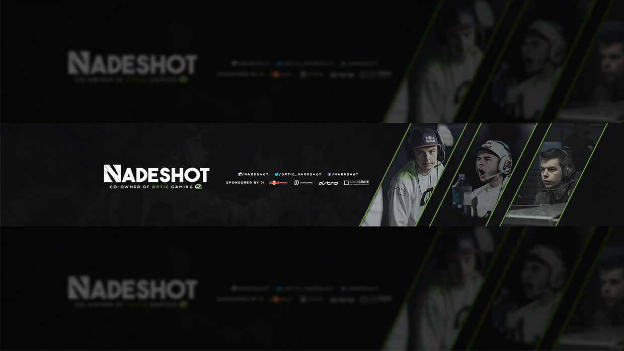 Optic Nadeshot Youtube Banner Psd Tristan Nelson