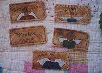 #06 Angel Stitchery Tags E Pattern