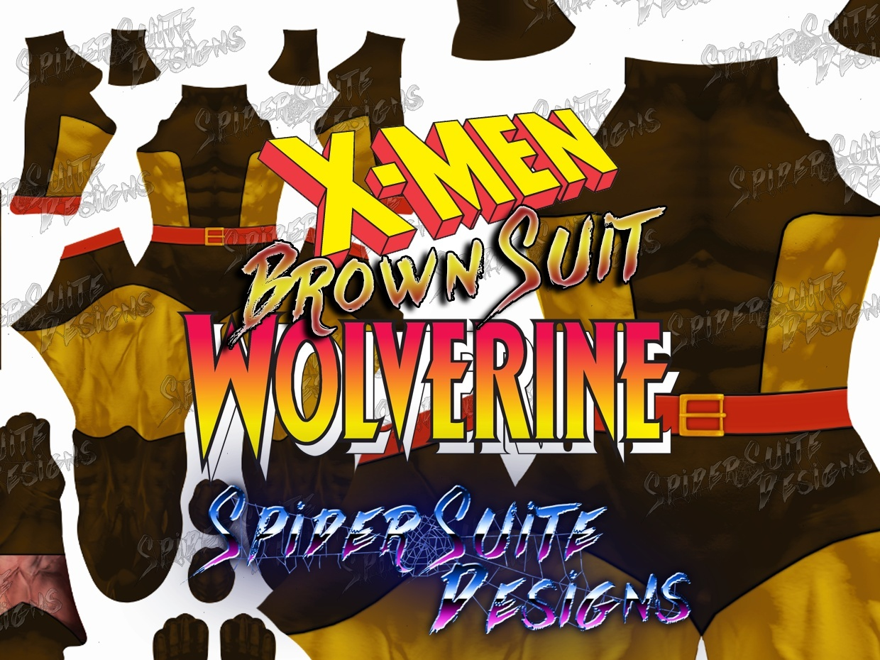 Classic Wolverine Brown Suit (with Belt) 2017 Pattern