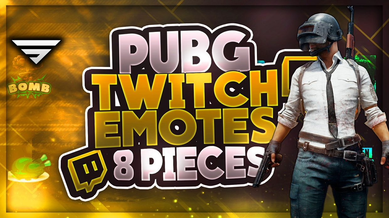 8 Different PUBG Twitch Emotes | PSD