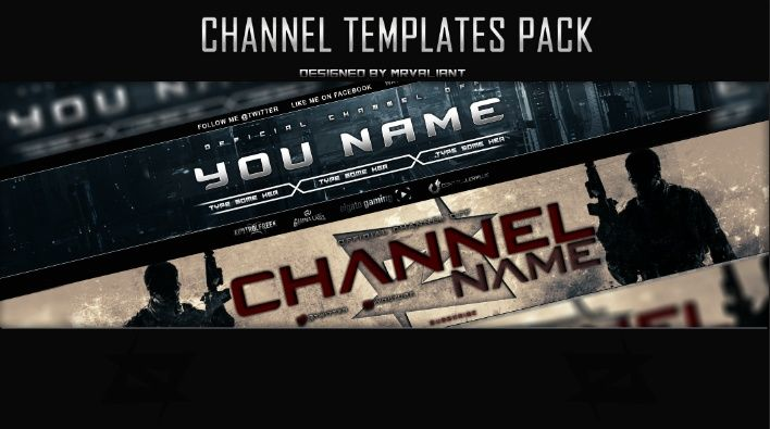 6 Pack of Youtube banners