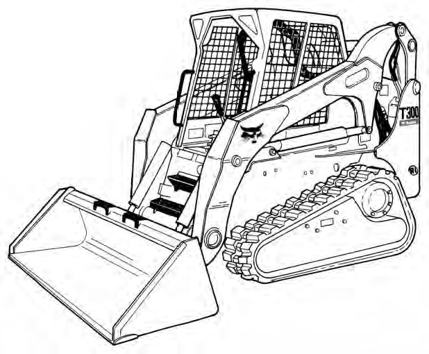 Bobcat T300 Compact Track Loader Service Repair Manual (S/N 521911001 & Above 522011001 & Above)