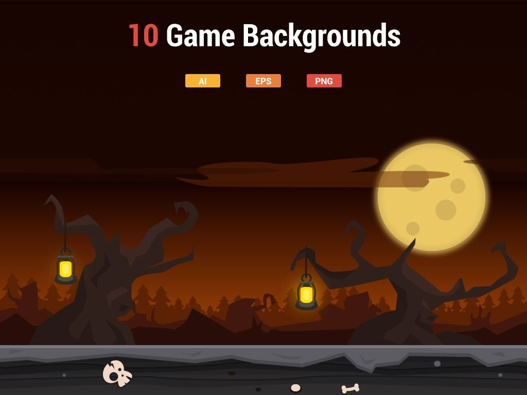 10 Modern Game Backgrounds