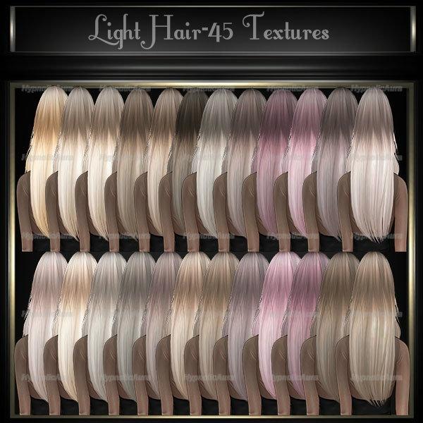 A~LIGHT HAIR-45 TEXTURES&10 BABYHAIR COLORS