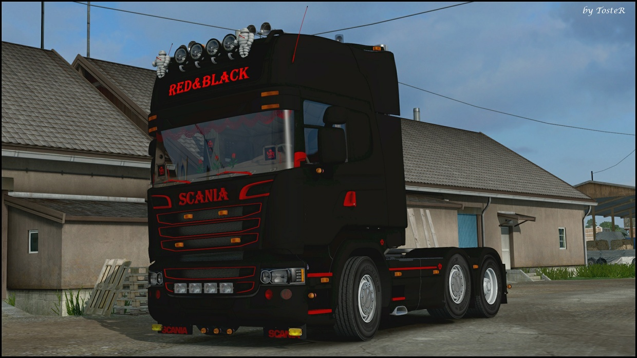 Scania Red&Black ETS 2