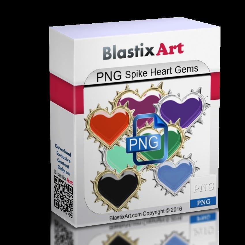 40-Png Spike Heart gems