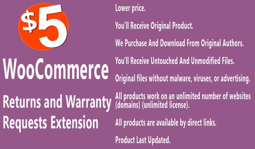 WooCommerce Returns and Warranty Requests Extension