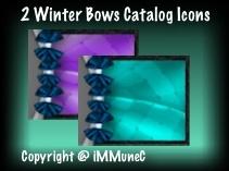 2 Winter Bows Catalog Icons