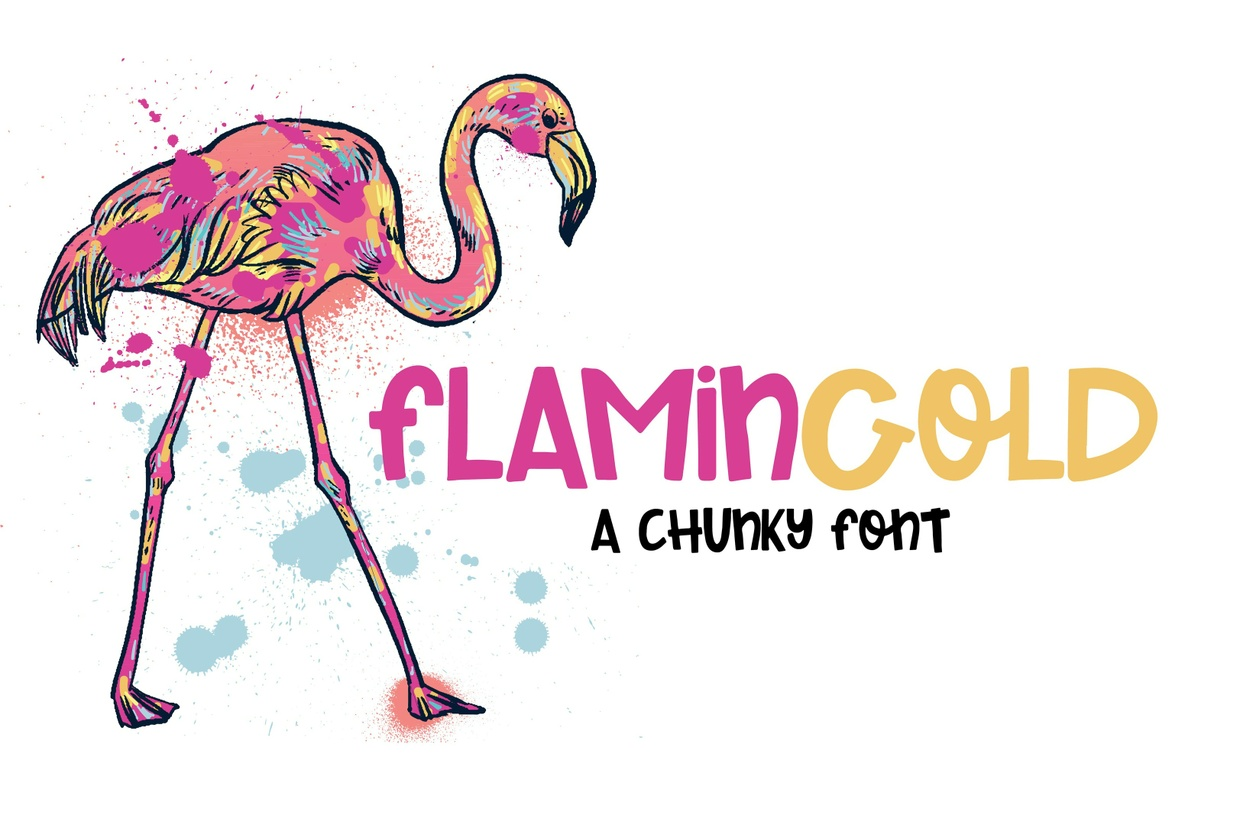 Flamingold - A Chunky Font