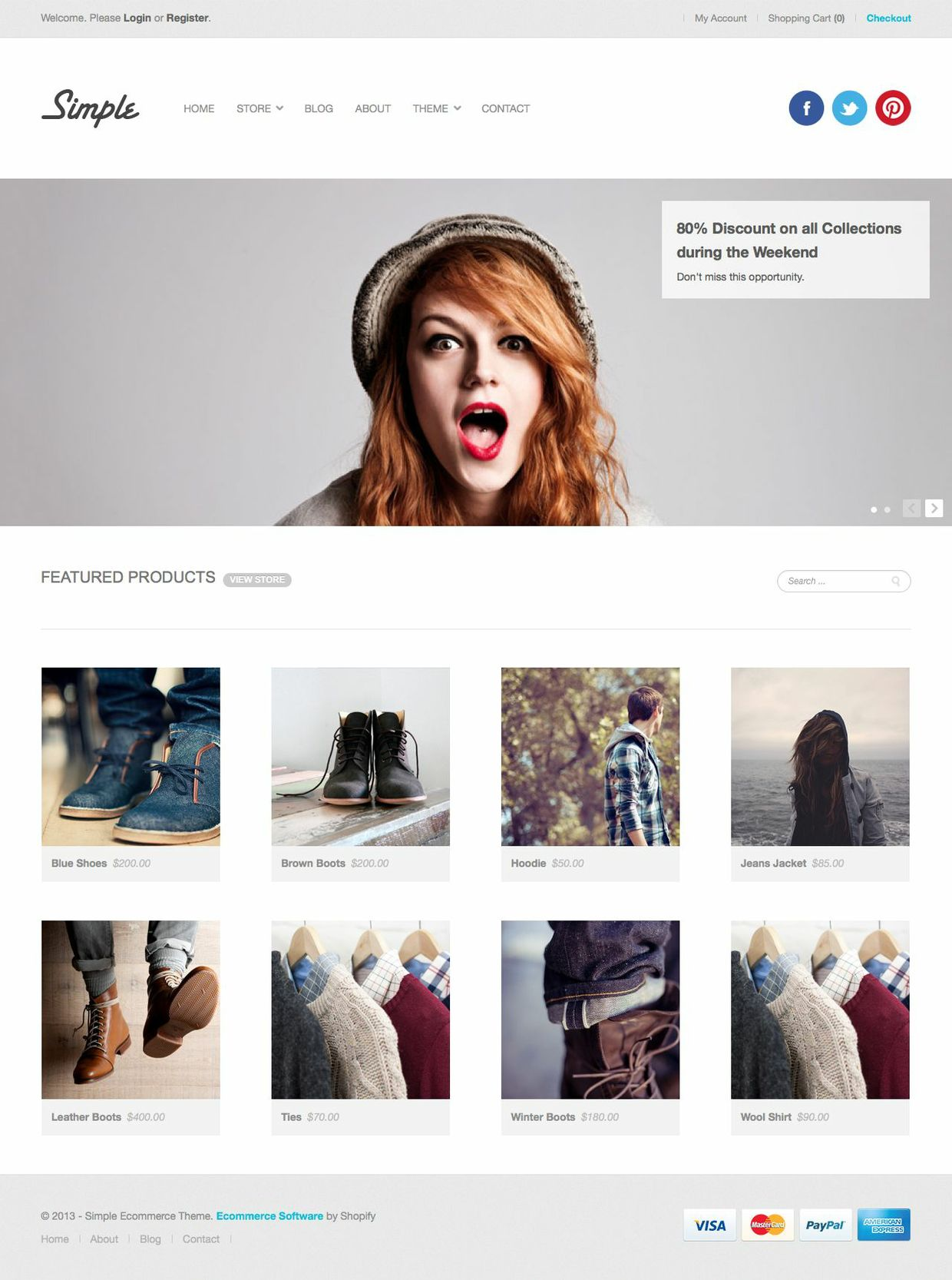 Simple Ecommerce Template