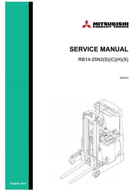 Mitsubishi Reach Truck RB14N2, RB16N2, RB20N2, RB25N2 (H)(S)(C)(X) Workshop Service Manual