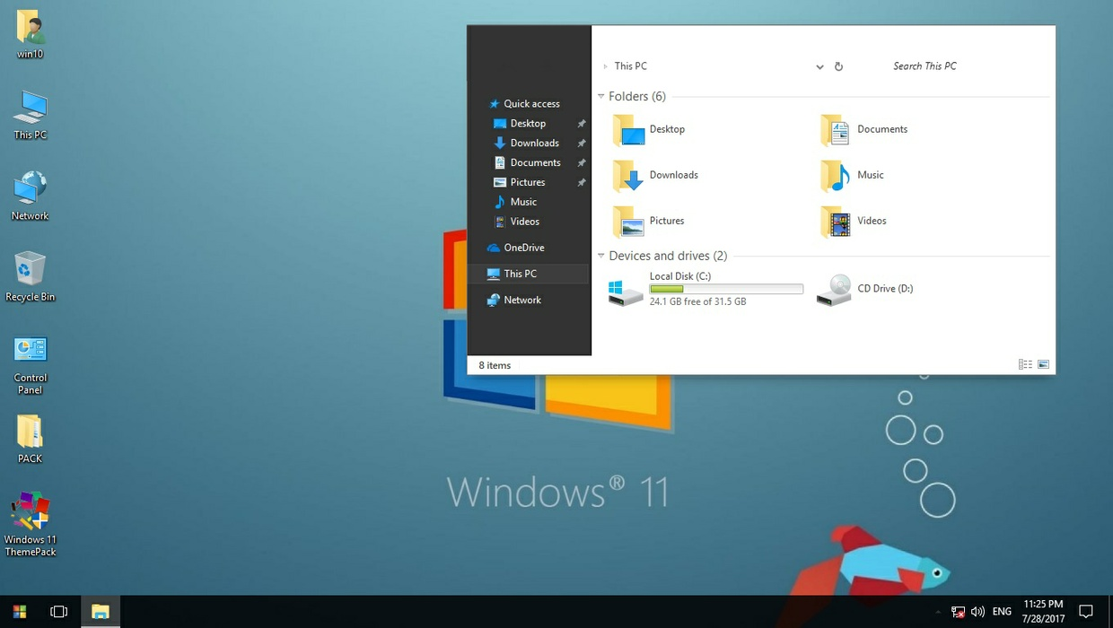 Windows 11 ThemePack for Win 7/10RS2