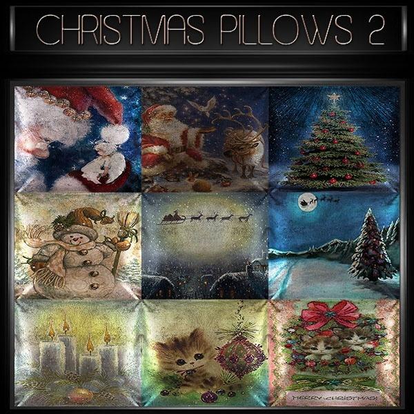 A~CHRISTMAS PILLOWS 2-30 TEXTURES