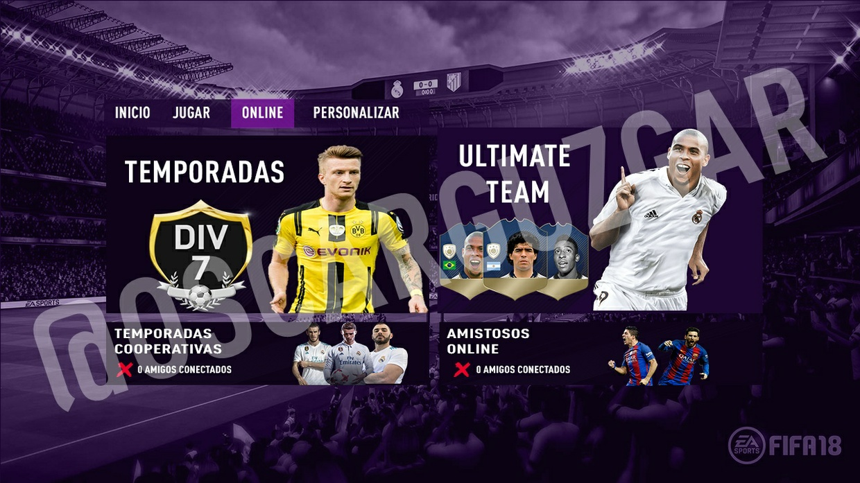 MENU FIFA 18 EDITABLE // EDIT MENU FIFA 18