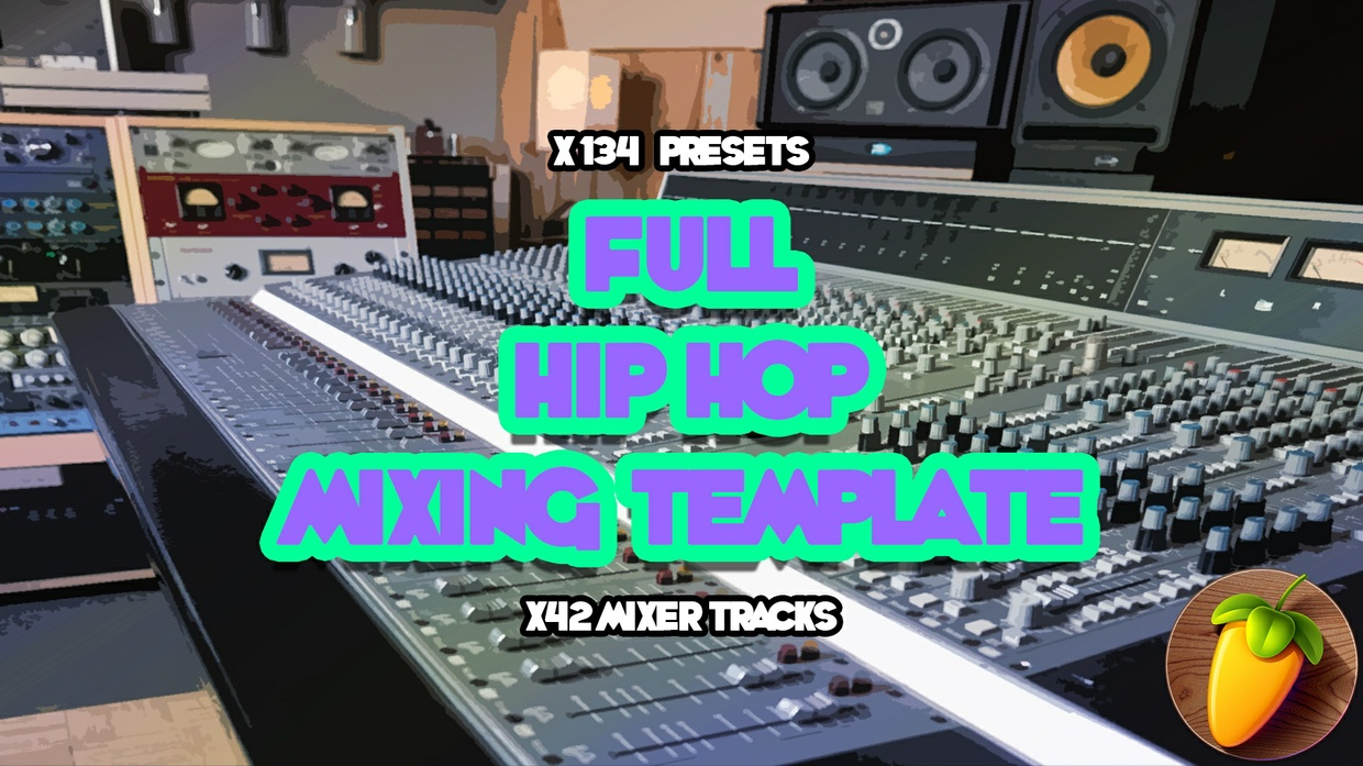 Full Hip Hip Mixing Template (Beat Stems + Vocals)