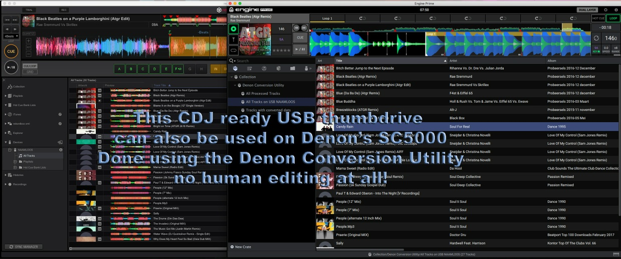 Denon Conversion Utility (DeCU) from Pioneer's Rekordbox to Denon's Engine Prime