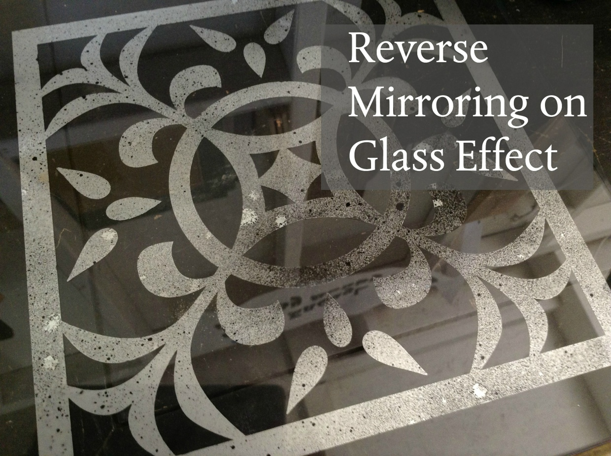 Reverse Mirroring on Glass Effect
