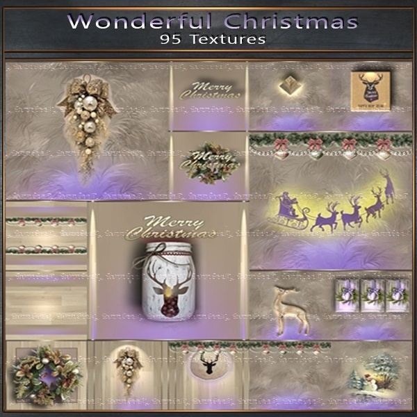 Wonderful Christmas 95 Textures