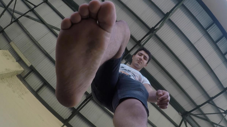 Giant Jake steps on you