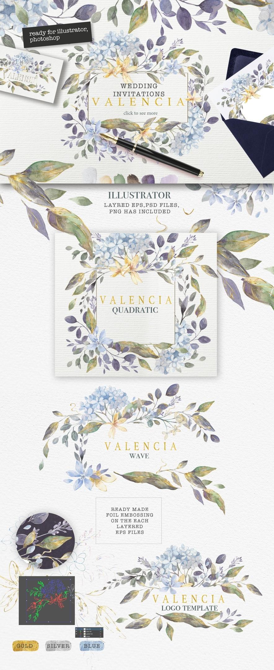 """VALENCIA"" LUXURY WATERCOLOR COLLECTION"