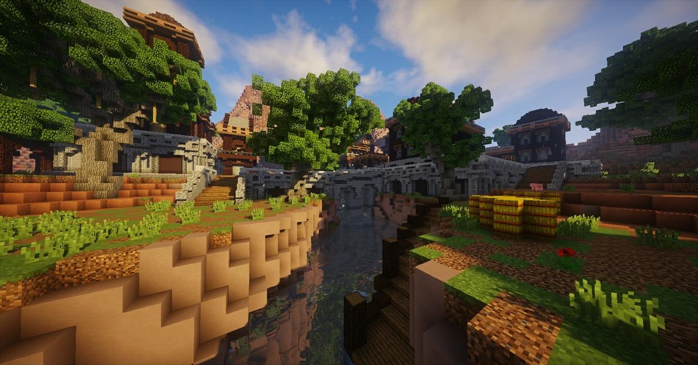 "[Minecraft] ""Hay Field"" FullPVP Map (by JosueKill99)"