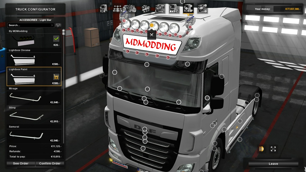 Lightbox Daf Euro6 by SCS