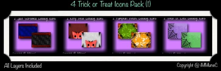8 Trick or Treat Icons (Set 1) With Resell Rights