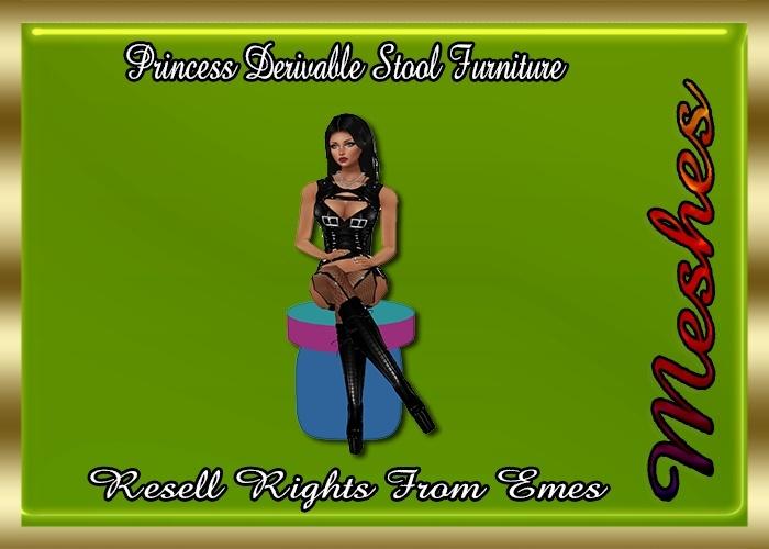Princess Stool Furniture Catty Only!!! ( 1 Regular Sitting Pose )