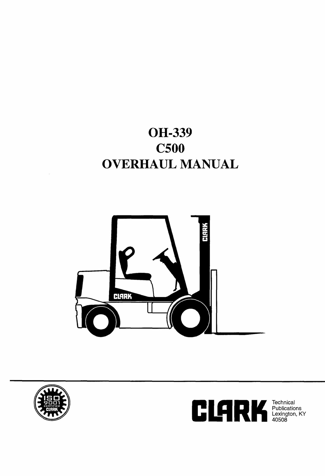 Download Clark C500(Y) 30-55 Forklift Service Repair Workshop Manual