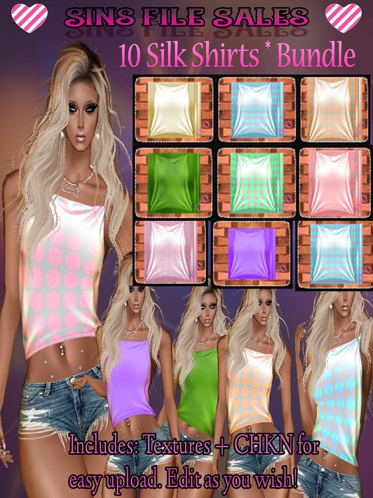 Silk Shirt Bundle * 10 Different Shirt Textures Included