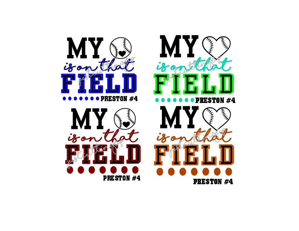 My Heart is on the Field SVG- SVG ONLY