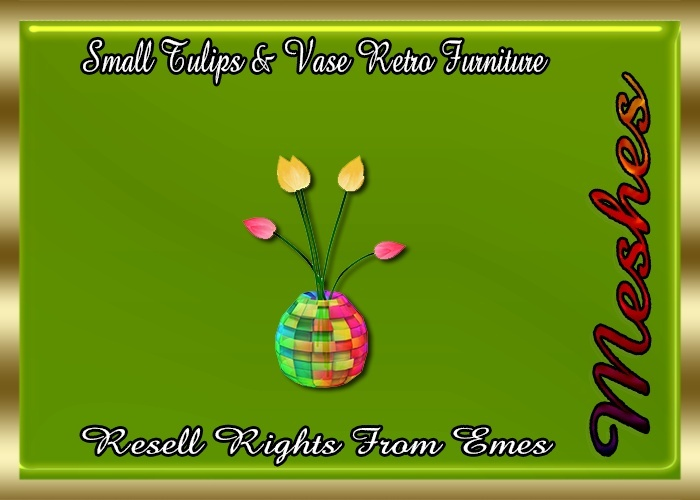 Small Tulips & Vase Retro Furniture Catty Only!!!