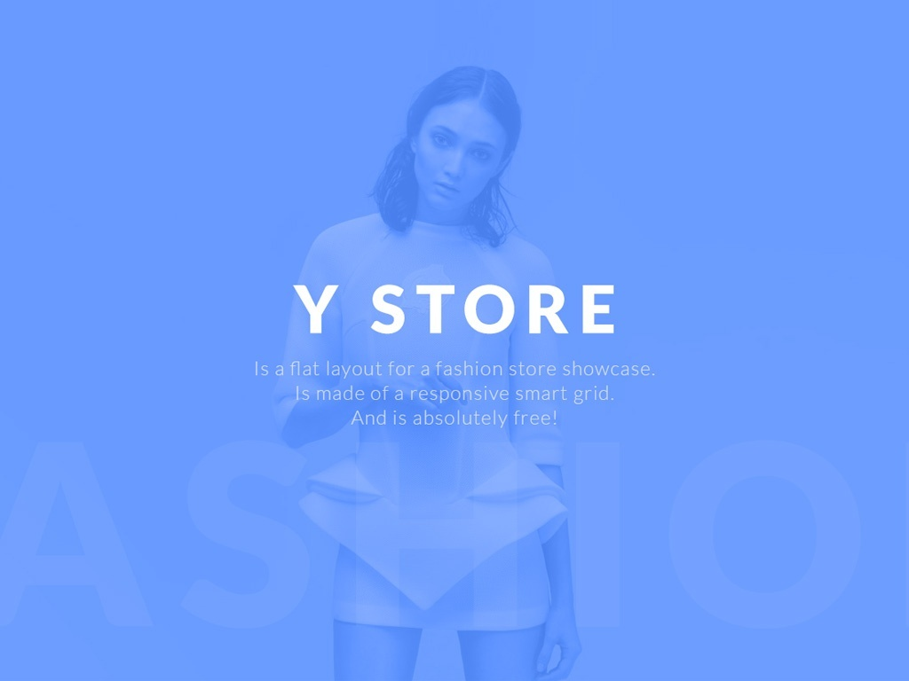Y Store, free e-commerce PSD template by Yebo