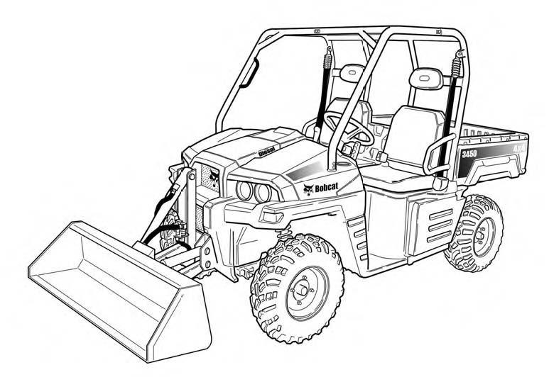 Bobcat 3450 Utility Vehicle Service Repair Manual Download(S/N:AJNT11001 & Above ...)