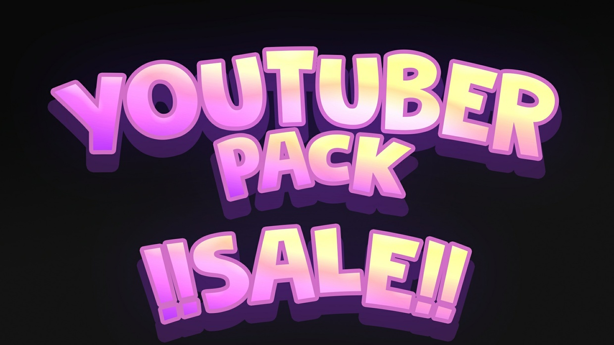 YOUTUBE PACK - BANNER + PROFILBILD, Individuelles 2D Thumbnail Template mit 15 Rendern  (Open)