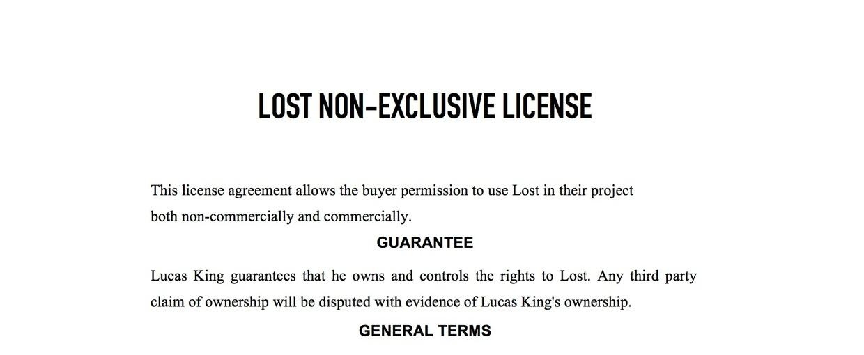 Sad Piano - Lost License