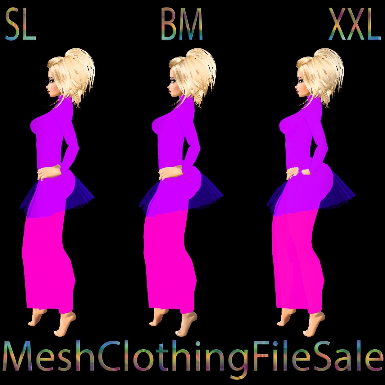 mesh 2 sl bm xxl mesh clothing file sale. Black Bedroom Furniture Sets. Home Design Ideas