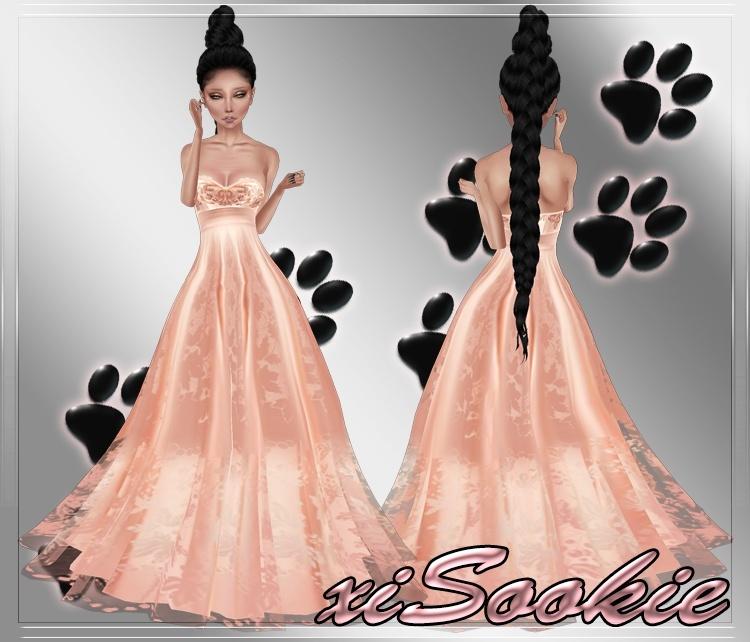 Peach Pearl Gown