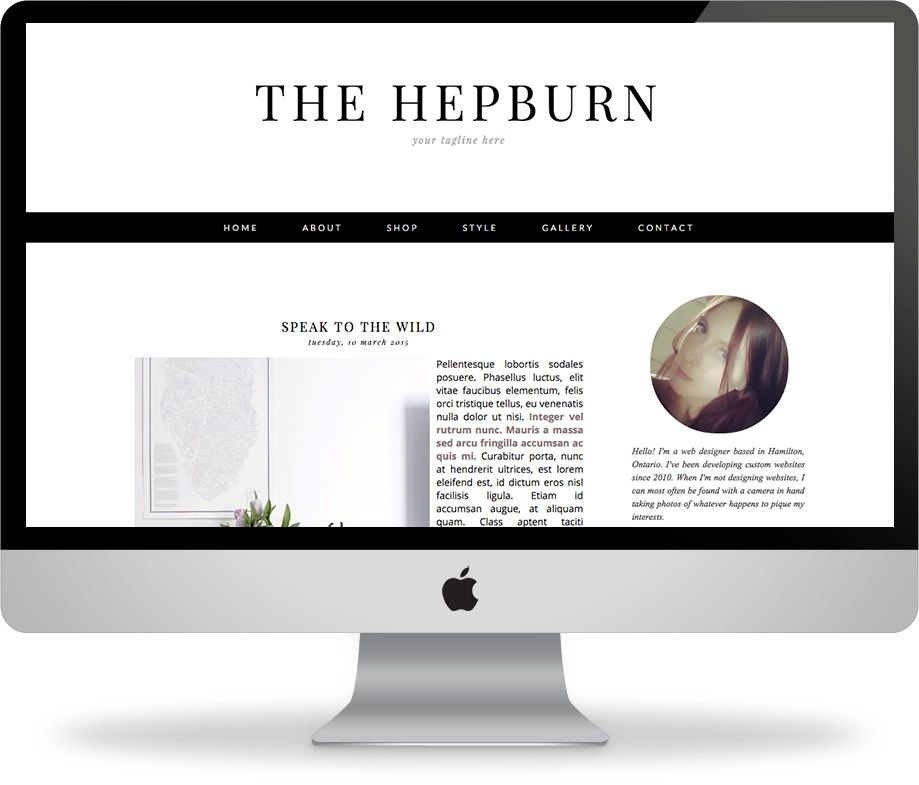 The Hepburn - Premade Blogger Template