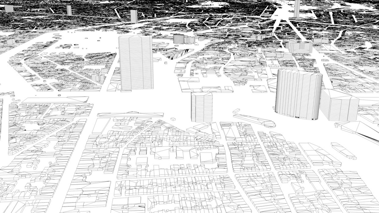 Brussels Streets and Buildings Architectural 3D Model