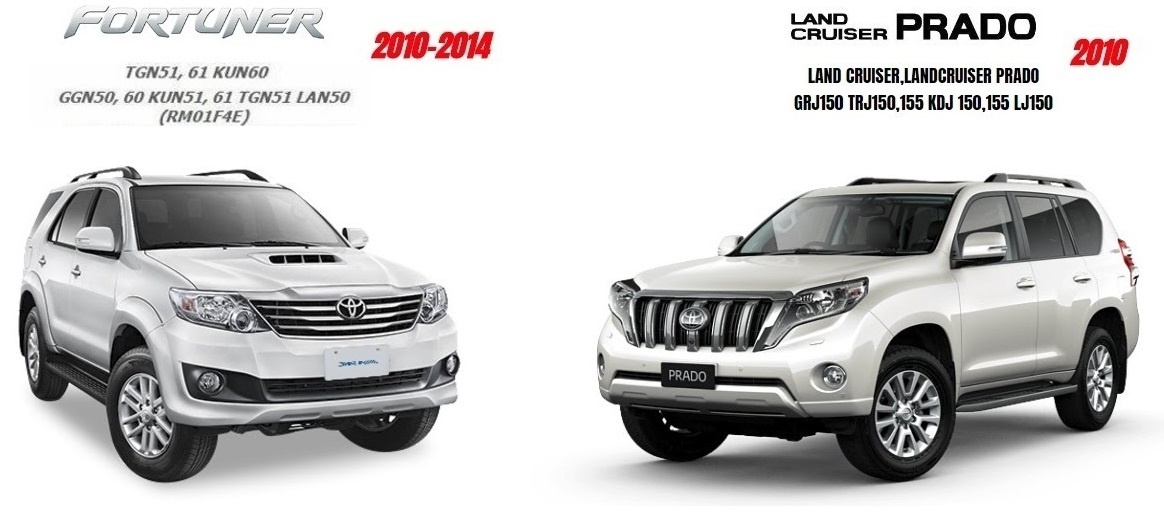 TOYOTA LANDCRUISER PRADO 2010 & FORTUNER 2014 GSIC WORKSHOP MANUAL
