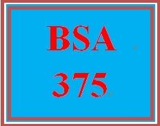 bsa 375 week 2 Qnt 275 week 3 practice: connect knowledge check qnt 275--6 popularity: 184 $600 qnt 275 week 2 apply: connect week 2 case qnt 275--6.