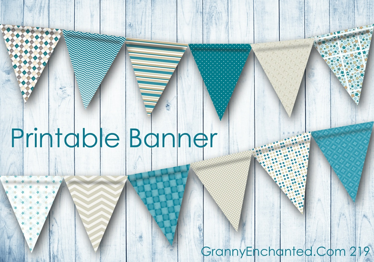 Printable PDF Party Banner File (219)