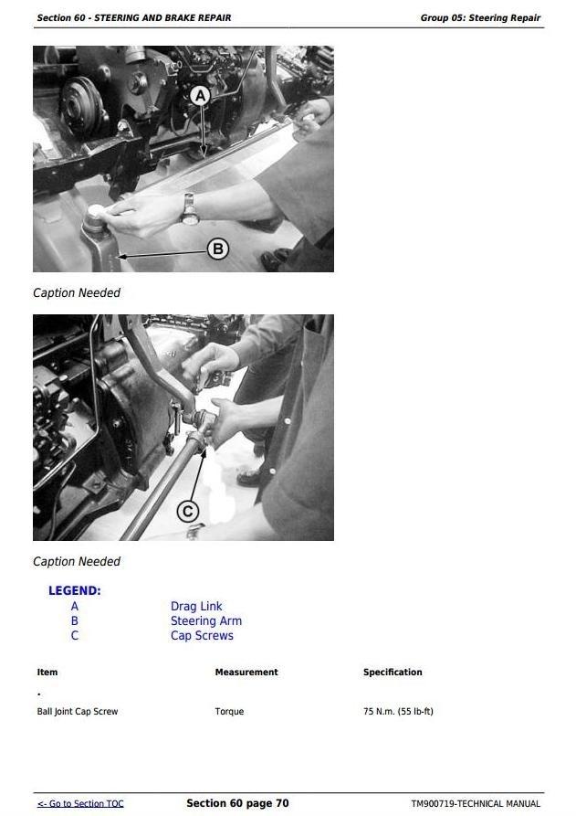John Deere 5038D, 5042D, 5045D, 5047D and 5050D - India Tractors Technical Manual (TM900719)