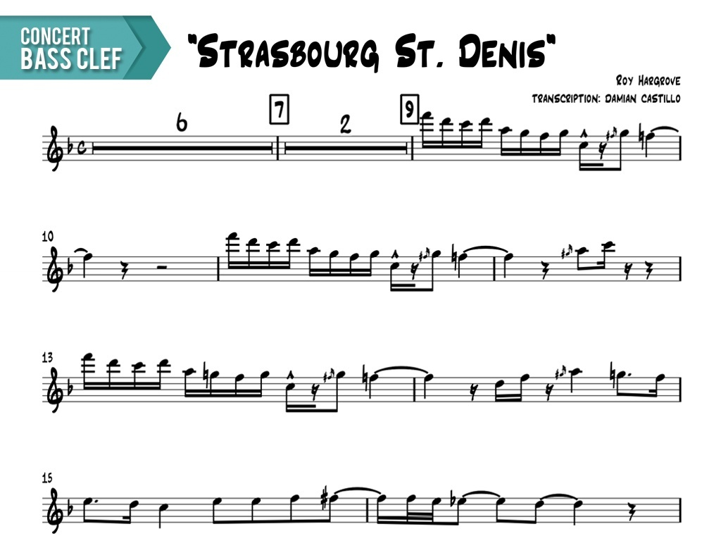 "Roy Hargrove - ""Strasbourg St. Denis"" - Concert Bass Clef"