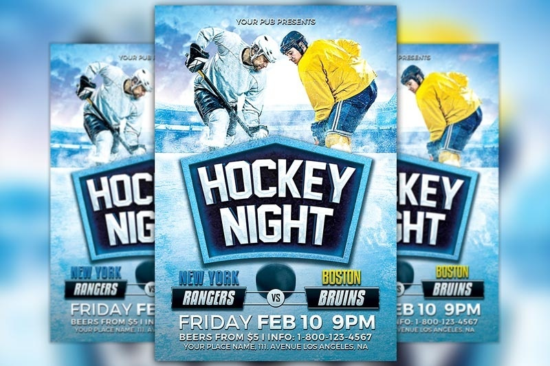 Hockey Night Flyer Template