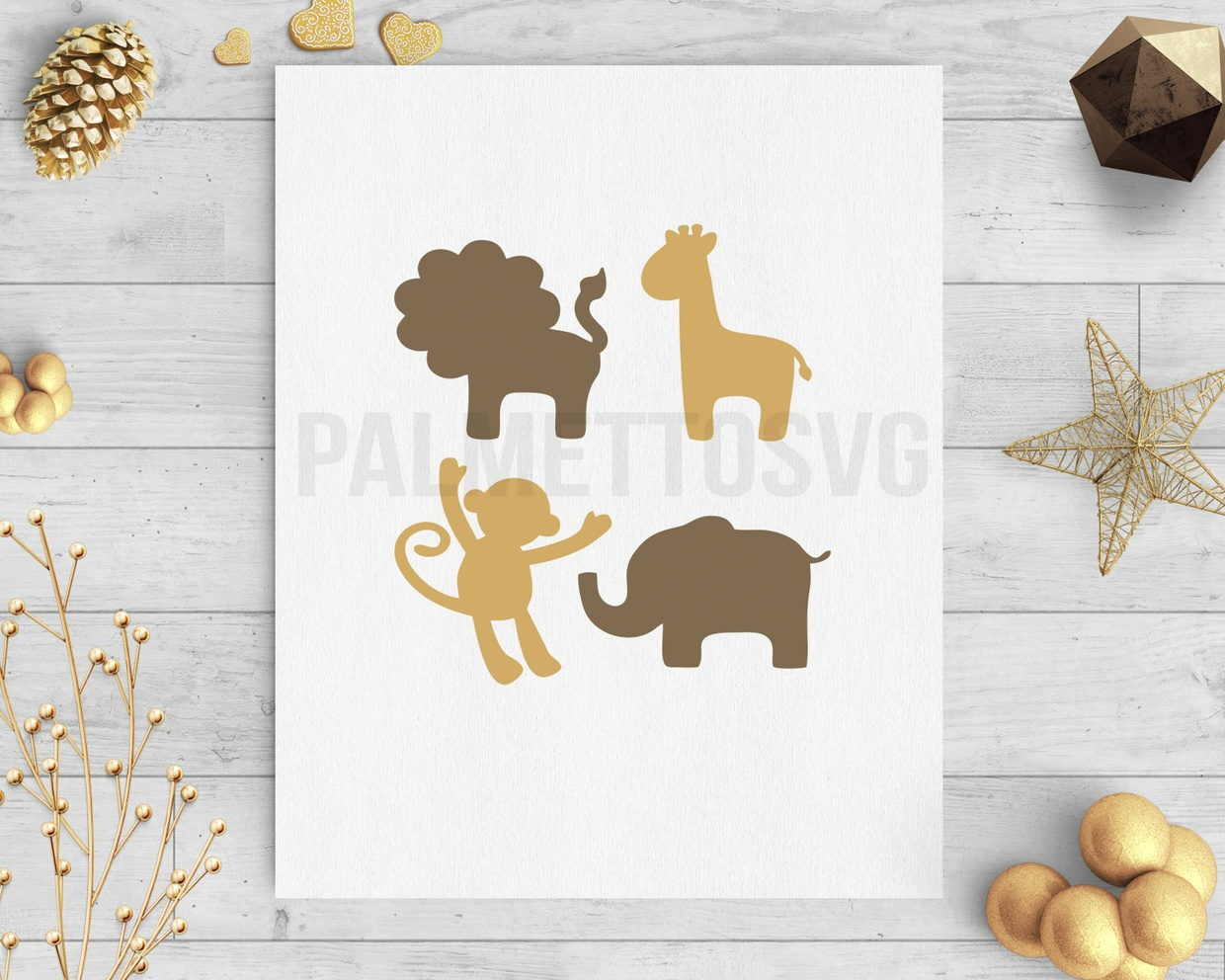 safari animals svg dxf silhouette cricut downloads