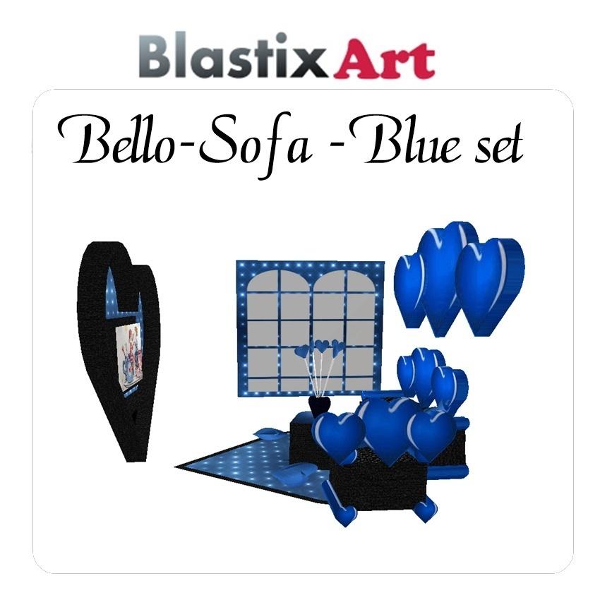 Bello  Sofa Blue set