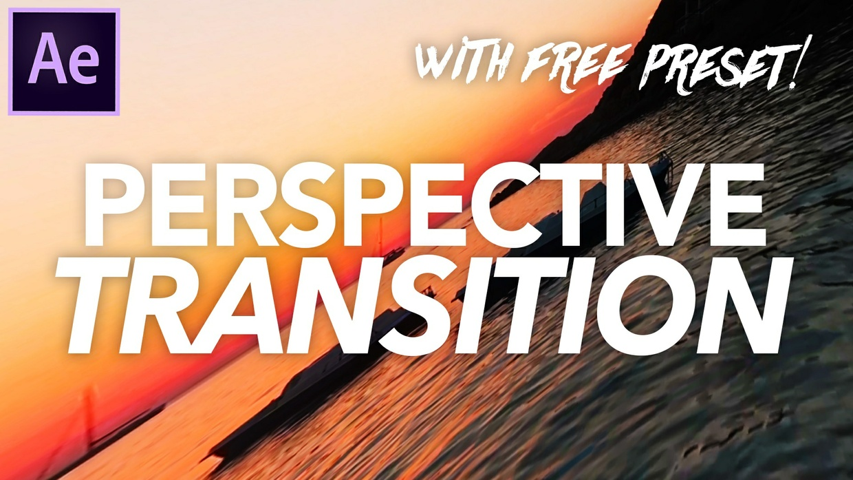 Perspective Transition Preset - Adobe After Effects